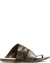 Sandales en cuir marron foncé Marsèll