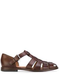 Sandales en cuir marron Church's