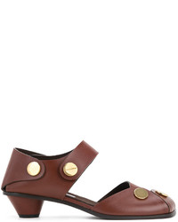 Sandales en cuir marron Stella McCartney