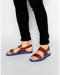 Sandales en cuir marron Ted Baker