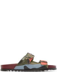 Sandales en cuir marron Valentino