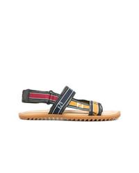 Sandales en cuir multicolores Fendi