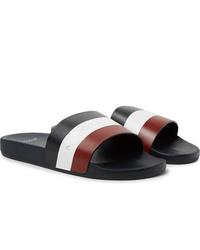 Sandales en cuir multicolores Moncler