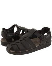 Sandales en cuir noires