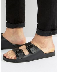 Sandales en cuir noires Aldo