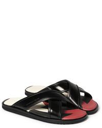 Sandales en cuir noires Alexander McQueen