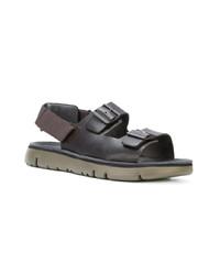 Sandales en cuir noires Camper