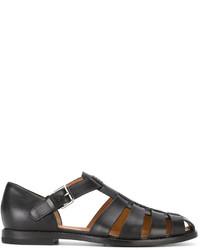 Sandales en cuir noires Church's