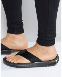 Sandales en cuir noires Dr. Martens