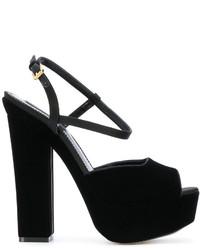 Sandales en cuir noires Dsquared2