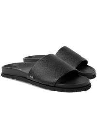 Sandales en cuir noires Dunhill