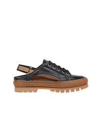 Sandales en cuir noires Fendi