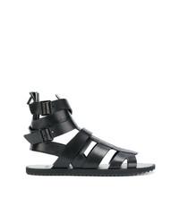 Sandales en cuir noires Givenchy