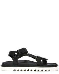 Sandales en cuir noires Golden Goose Deluxe Brand