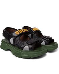 Sandales en cuir noires Gucci