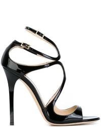 Sandales en cuir noires Jimmy Choo