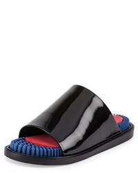 Sandales en cuir noires Kenzo