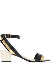Sandales en cuir noires Lanvin