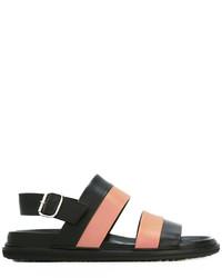 Sandales en cuir noires Marni