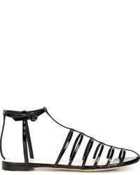 Sandales en cuir noires Nina Ricci