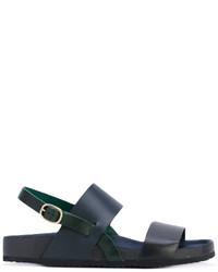 Sandales en cuir noires Paul Smith