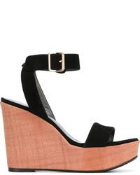 Sandales en cuir noires Stuart Weitzman