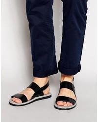 Sandales en cuir noires Ted Baker