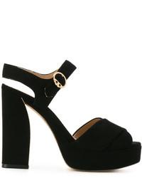 Sandales en cuir noires Tory Burch