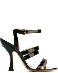 Sandales en cuir noires Vivienne Westwood