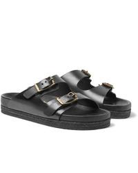 Sandales en cuir noires Yuketen