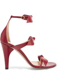 Sandales en cuir ornées bordeaux Chloé