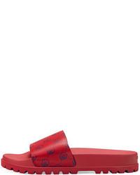 Sandales en cuir rouges