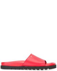 Sandales en cuir rouges Giuseppe Zanotti Design