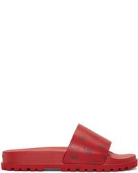 Sandales en cuir rouges Gucci