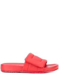 Sandales en cuir rouges Maison Margiela