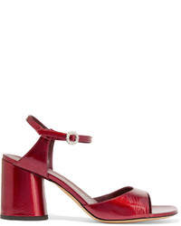 Sandales en cuir rouges Marc Jacobs