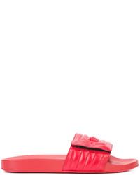 Sandales en cuir rouges Versace