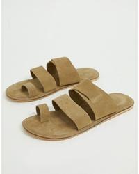 Sandales en daim beiges ASOS DESIGN
