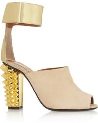 Sandales en daim beiges Fendi