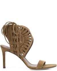 Sandales en daim brunes Tory Burch