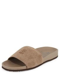 Sandales en daim marron clair