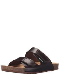 Sandales en daim marron foncé