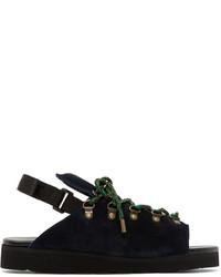 Sandales en daim noires