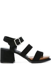 Sandales en daim noires Tod's