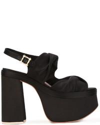 Sandales en satin noires Vivienne Westwood