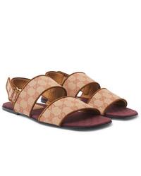 Sandales en toile beiges Gucci