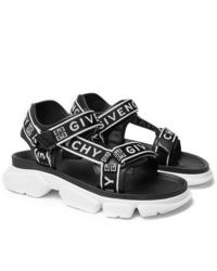 Sandales en toile imprimées noires Givenchy