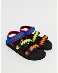 Sandales en toile multicolores ASOS DESIGN