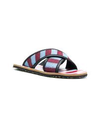 Sandales en toile multicolores Marni