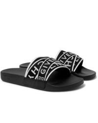 Sandales en toile noires et blanches Givenchy